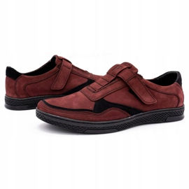 Polbut Men's casual leather shoes 2102 claret red 6