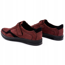 Polbut Men's casual leather shoes 2102 claret red 7