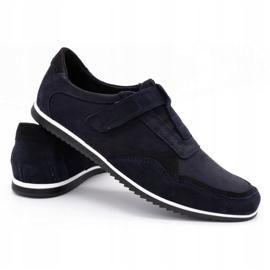 Polbut Men's casual leather shoes 2102/2 navy blue 5