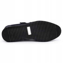 Polbut Men's casual leather shoes 2102/2 navy blue 1