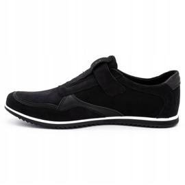 Polbut Men's casual leather shoes 2102/2 black 2