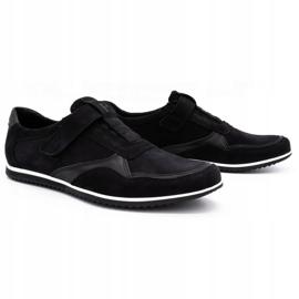 Polbut Men's casual leather shoes 2102/2 black 3