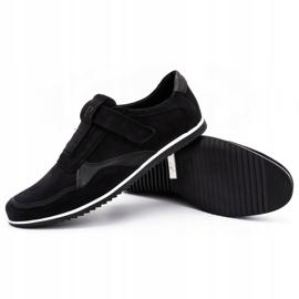 Polbut Men's casual leather shoes 2102/2 black 4
