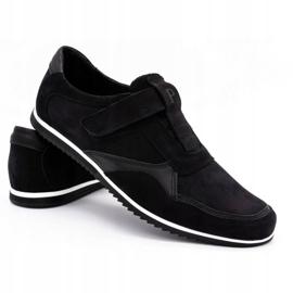 Polbut Men's casual leather shoes 2102/2 black 5