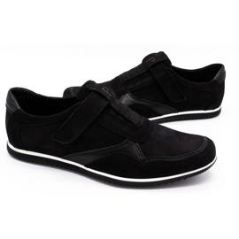 Polbut Men's casual leather shoes 2102/2 black 6