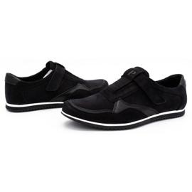 Polbut Men's casual leather shoes 2102/2 black 7