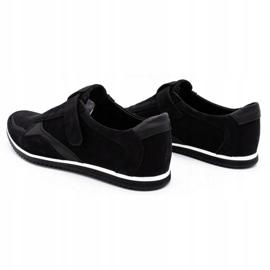Polbut Men's casual leather shoes 2102/2 black 8