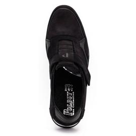 Polbut Men's casual leather shoes 2102/2 black 9