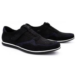 Polbut Men's casual leather shoes 2102 / 2L black 2