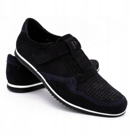 Polbut Men's casual leather shoes 2102 / 2L black 4