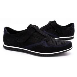 Polbut Men's casual leather shoes 2102 / 2L black 6
