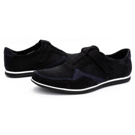 Polbut Men's casual leather shoes 2102 / 2L black 7