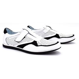 Polbut Men's casual leather shoes 2102 / 2L white 2
