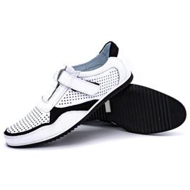 Polbut Men's casual leather shoes 2102 / 2L white 3
