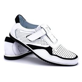 Polbut Men's casual leather shoes 2102 / 2L white 4