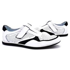 Polbut Men's casual leather shoes 2102 / 2L white 5