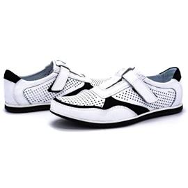 Polbut Men's casual leather shoes 2102 / 2L white 6