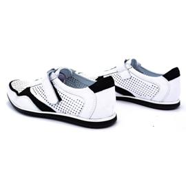 Polbut Men's casual leather shoes 2102 / 2L white 7