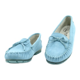 Women's Leather Loafers Blue Filippo DP1204 / 21 BL 1