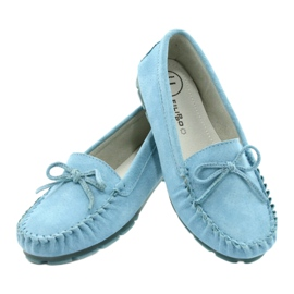Women's Leather Loafers Blue Filippo DP1204 / 21 BL 3