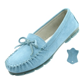Women's Leather Loafers Blue Filippo DP1204 / 21 BL 4