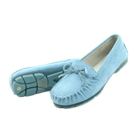 Women's Leather Loafers Blue Filippo DP1204 / 21 BL 2