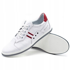 Polbut 1801L white casual men's shoes 3