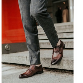 Lukas Leather formal shoes Monki 287LU brown 2