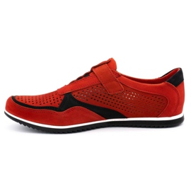 Polbut Men's casual leather shoes 2102 / 2L red 1