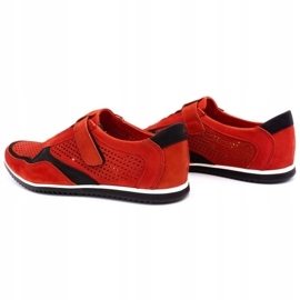 Polbut Men's casual leather shoes 2102 / 2L red 7