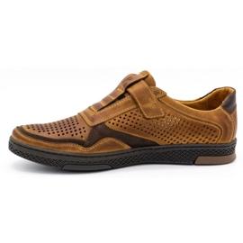 Polbut Men's casual leather shoes 2102L camel brown 1