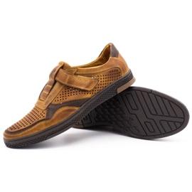 Polbut Men's casual leather shoes 2102L camel brown 3