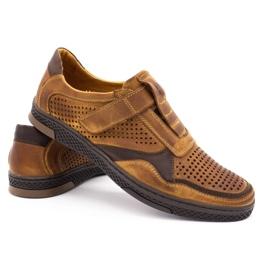 Polbut Men's casual leather shoes 2102L camel brown 4