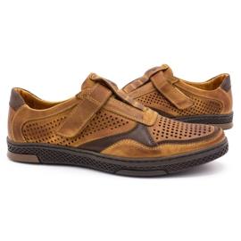 Polbut Men's casual leather shoes 2102L camel brown 5