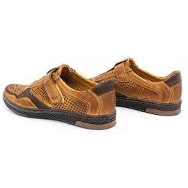 Polbut Men's casual leather shoes 2102L camel brown 7