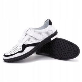 Polbut Men's casual leather shoes 2102L white 3