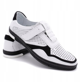 Polbut Men's casual leather shoes 2102L white 4