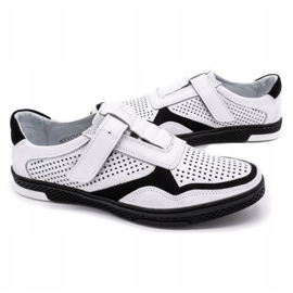 Polbut Men's casual leather shoes 2102L white 5