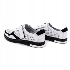 Polbut Men's casual leather shoes 2102L white 7
