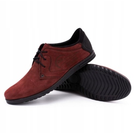 Polbut Men's leather shoes 2103 burgundy red 3