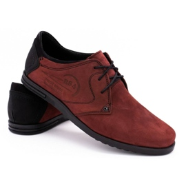 Polbut Men's leather shoes 2103 burgundy red 4