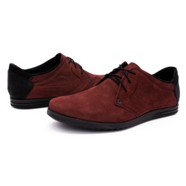 Polbut Men's leather shoes 2103 burgundy red 6