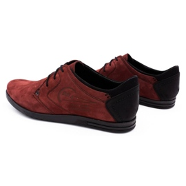 Polbut Men's leather shoes 2103 burgundy red 7