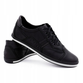 Polbut 1801L black casual men's shoes 4