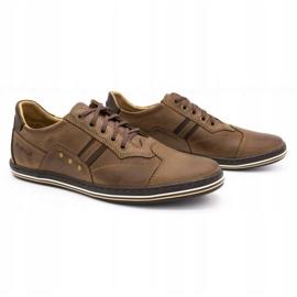 Polbut 1801 brown casual men's shoes 3