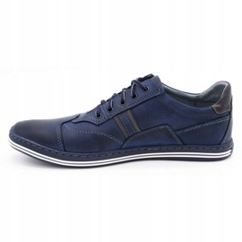 Polbut 1801 navy blue casual men's shoes 1