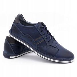 Polbut 1801 navy blue casual men's shoes 4