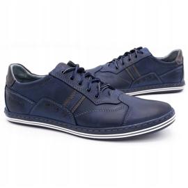 Polbut 1801 navy blue casual men's shoes 5