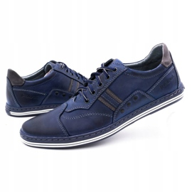 Polbut 1801 navy blue casual men's shoes 6