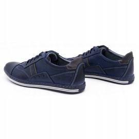 Polbut 1801 navy blue casual men's shoes 7